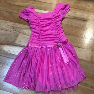 Girls size 6 fancy ruched dress